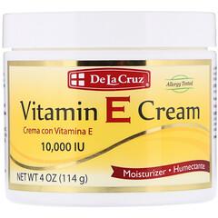 De La Cruz, 維生素E潤膚霜,10,000國際單位,4盎司(114克)