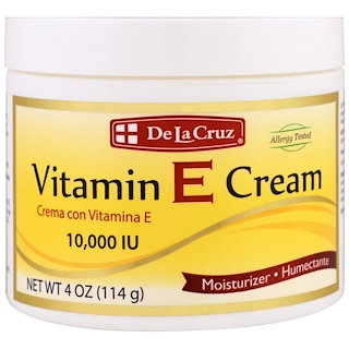 De La Cruz, Vitamin E Cream, 10,000 IU, 4 oz (114 g)