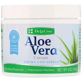 De La Cruz, Aloe Vera Cream, 4 oz (114 g)