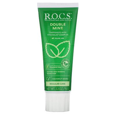 R.O.C.S. зубная паста со вкусом двойной мяты, 94г (3,3унции)