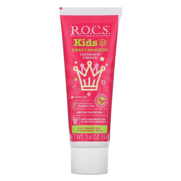 Kids, Sweet Princess Toothpaste, 3-7 Years,  1.6 oz (45 g)