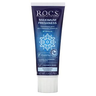 R.O.C.S., зубная паста для максимальной свежести, 94г (3,3унции)