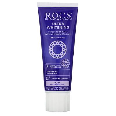 R.O.C.S. ультраотбеливающая зубная паста, 94г (3,3унции)
