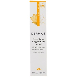 Derma E, Evenly Radiant Brightening Serum with Vitamin C, 2 fl oz (60 ml)