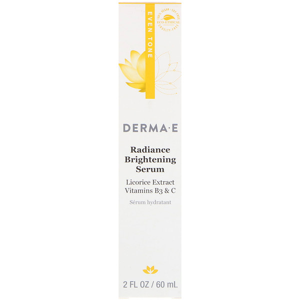 Derma E, Sérum radiance éclaircissant, Tonifiant, 60ml (Discontinued Item)