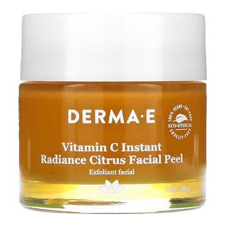 Derma E, Éclat instantané, Exfoliant facial à la vitamineC, Aux agrumes, 56g