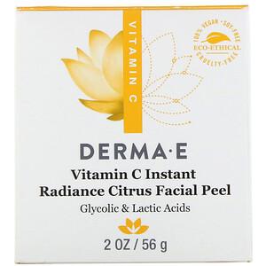 Дерма Е, Vitamin C Instant Radiance Citrus Facial Peel, 2 oz (56 g) отзывы покупателей