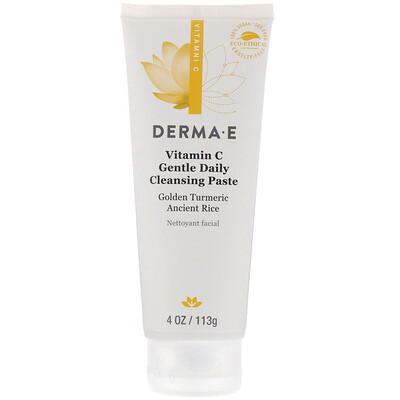 Купить Derma E Vitamin C, Gentle Daily Cleansing Paste, 4 oz (113 g)