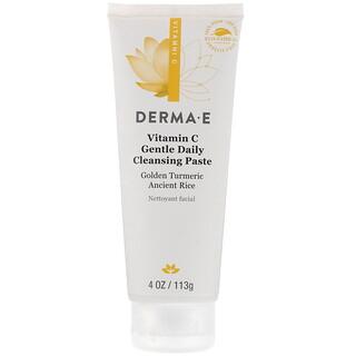Derma E, فيتامين جـ، معجون تنظيف يومي لطيف، 4 أونصة (113 جم)