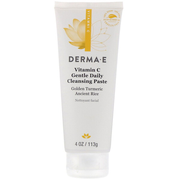 Derma E, Vitamin C, Gentle Daily Cleansing Paste, 4 oz (113 g)