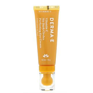 Derma E, VitaminaC, Crema para el contorno de los ojos para minimizar las ojeras y perfeccionar la piel, 14g (0,5oz)