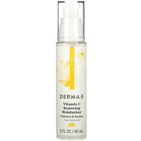 Derma E, Vitamin C Renewing Moisturizer, Probiotics & Rooibos, 2 fl oz (60 ml)