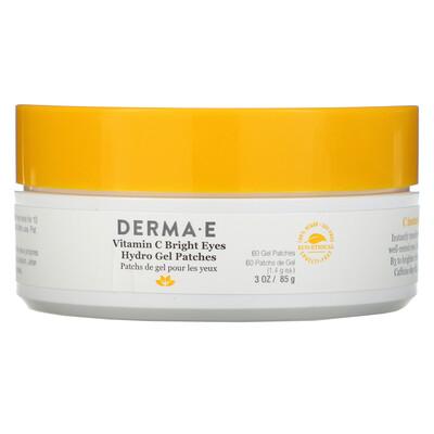 Купить Derma E Vitamin C Bright Eyes Hydro Gel Patches, 60 Patches, 3 oz (85 g)