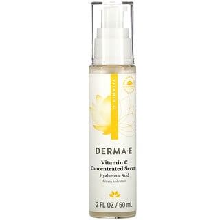 Derma E, Sérum concentrado de vitaminaC, Ácido hialurónico, 60ml (2oz.líq.)