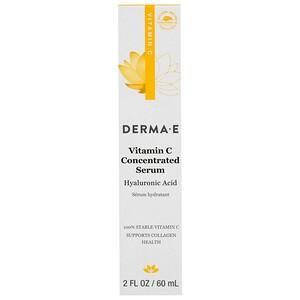 Дерма Е, Vitamin C Concentrated Serum, Hyaluronic Acid, 2 fl oz (60 ml) отзывы