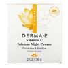 Derma E, интенсивный ночной крем с витаминомC, 56г (2унции)