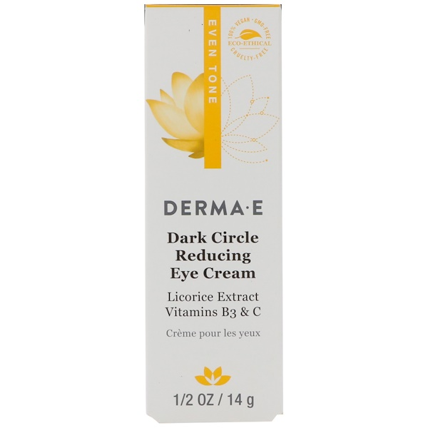 Derma E, Dark Circle Reducing Eye Cream, 1/2 oz (14 g) (Discontinued Item)