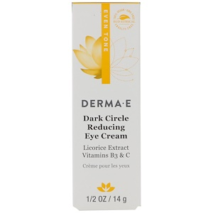 Дерма Е, Dark Circle Reducing Eye Cream, 1/2 oz (14 g) отзывы покупателей