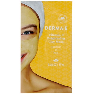 Derma E, Vitamin C Brightening Clay Mask, Turmeric & Kale, 0.35 oz (10 g)