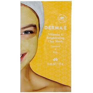 Дерма Е, Vitamin C Brightening Clay Mask, Turmeric & Kale, 0.35 oz (10 g) отзывы покупателей