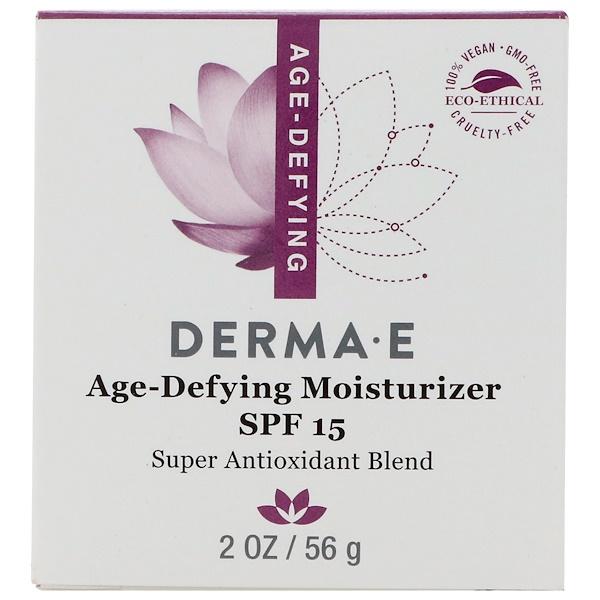 Derma E, Age-Defying Moisturizer SPF 15, 2 oz (56 g) (Discontinued Item)
