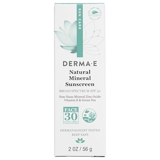 Derma E, Natural Mineral Sunscreen, Sun Care, SPF 30, 2 oz (56 g)