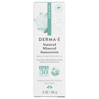 Derma E, Filtro solar natural, protección contra el sol, SPF 30, 2 oz (56 g)