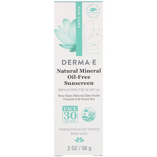 Derma E, Natural Mineral Oil-Free Sunscreen, SPF 30, 2 oz (56 g)