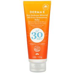 Derma E, 嬰兒,抗曬無礦物油抗曬霜,SPF 30,4 盎司(113 克)