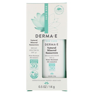 Derma E, Natural Mineral Sunscreen, SPF 30, Water Resistant, 0.5 oz (14 g)
