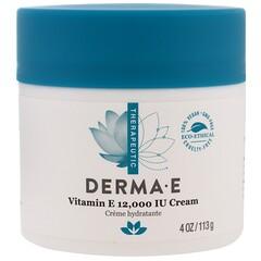 Derma E, 維生素E(12,000 國際單位)乳霜,4盎司(113克)