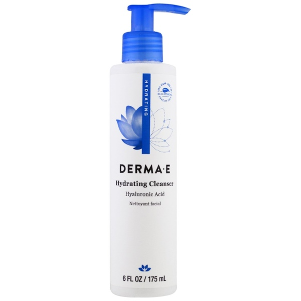 Derma E, Hydrating Cleanser, Hyaluronic Acid, 6 fl oz (175 ml)