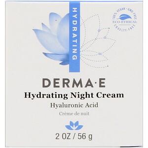 Derma E, Увлажняющий ночной крем, 2 унции (56 г) инструкция, применение, состав, противопоказания