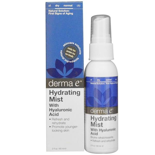 Derma E, Hydrating Mist with Hyaluronic Acid, 2 fl oz (60 ml)