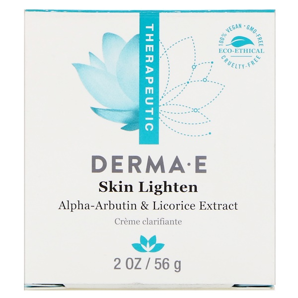 Derma E, Skin Lighten, Natural Fade and Age Spot Cream, 2 oz (56 g)