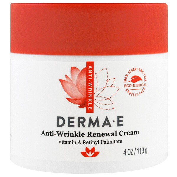Derma E, Anti-Wrinkle Renewal Cream, 4 oz (113 g)