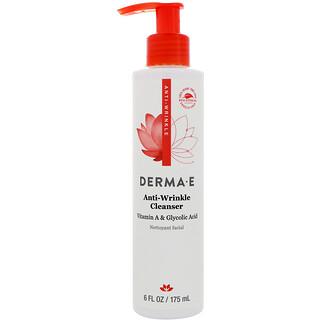 Derma E, Anti-Wrinkle Cleanser, Vitamin A Glycolic Acid, 6 fl oz (175 ml)