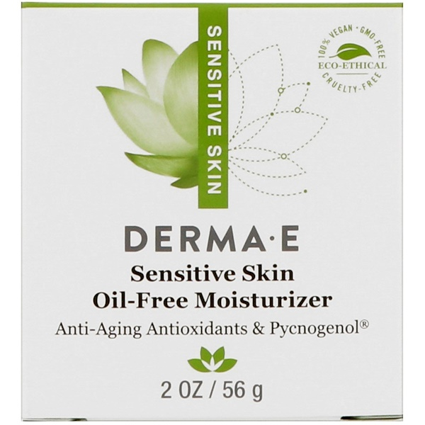 Derma E, Sensitive Skin Oil-Free Moisturizer, 2 oz (56 g) (Discontinued Item)