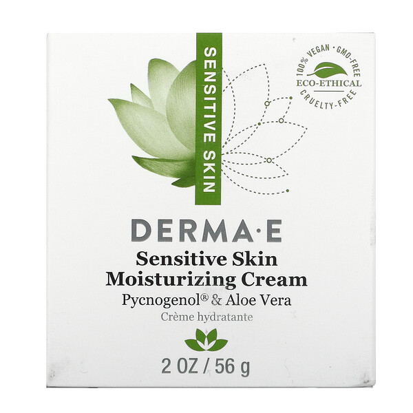 Derma E, Sensitive Skin Moisturizing Cream, 2 oz (56 g)