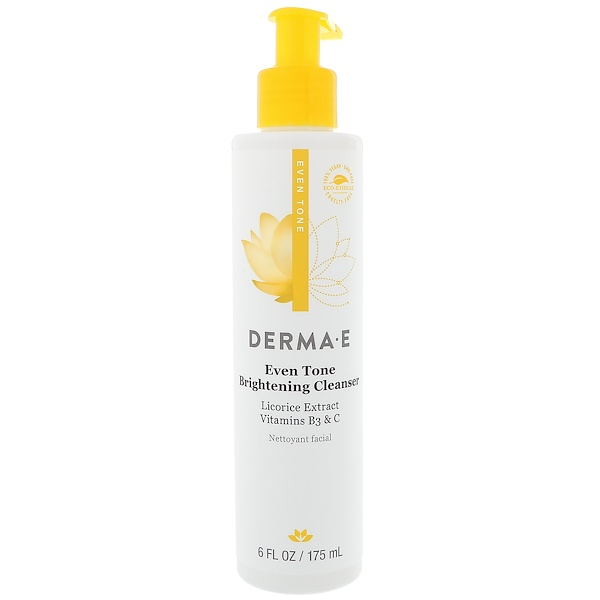 Derma E, Evenly Radiant Brightening Cleanser with Vitamin C, 6 fl oz (175 ml)