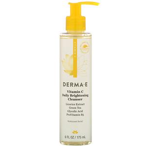 Дерма Е, Vitamin C Daily Brightening Cleanser, 6 fl oz (175 ml) отзывы