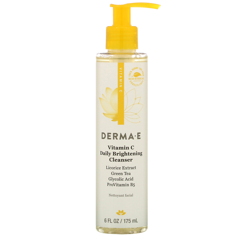 Derma E, Витамин С Daily Brightening Cleanser, 6 fl oz (175 ml)