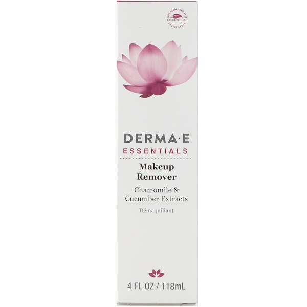 Derma E, Makeup Remover, Chamomile and Cucumber Extracts, 4 fl oz (118 ml) (Discontinued Item)