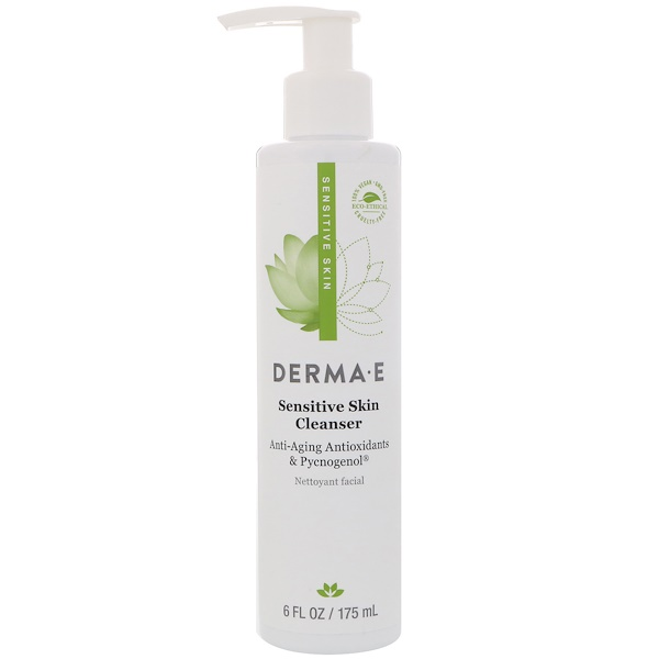 Derma E, Sensitive Skin Cleanser, 6 fl oz (175 ml)
