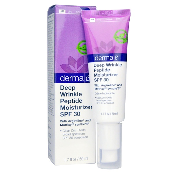 Derma E, Deep Wrinkle Peptide Moisturizer SPF 30, 1.7 fl oz (50 ml) (Discontinued Item)