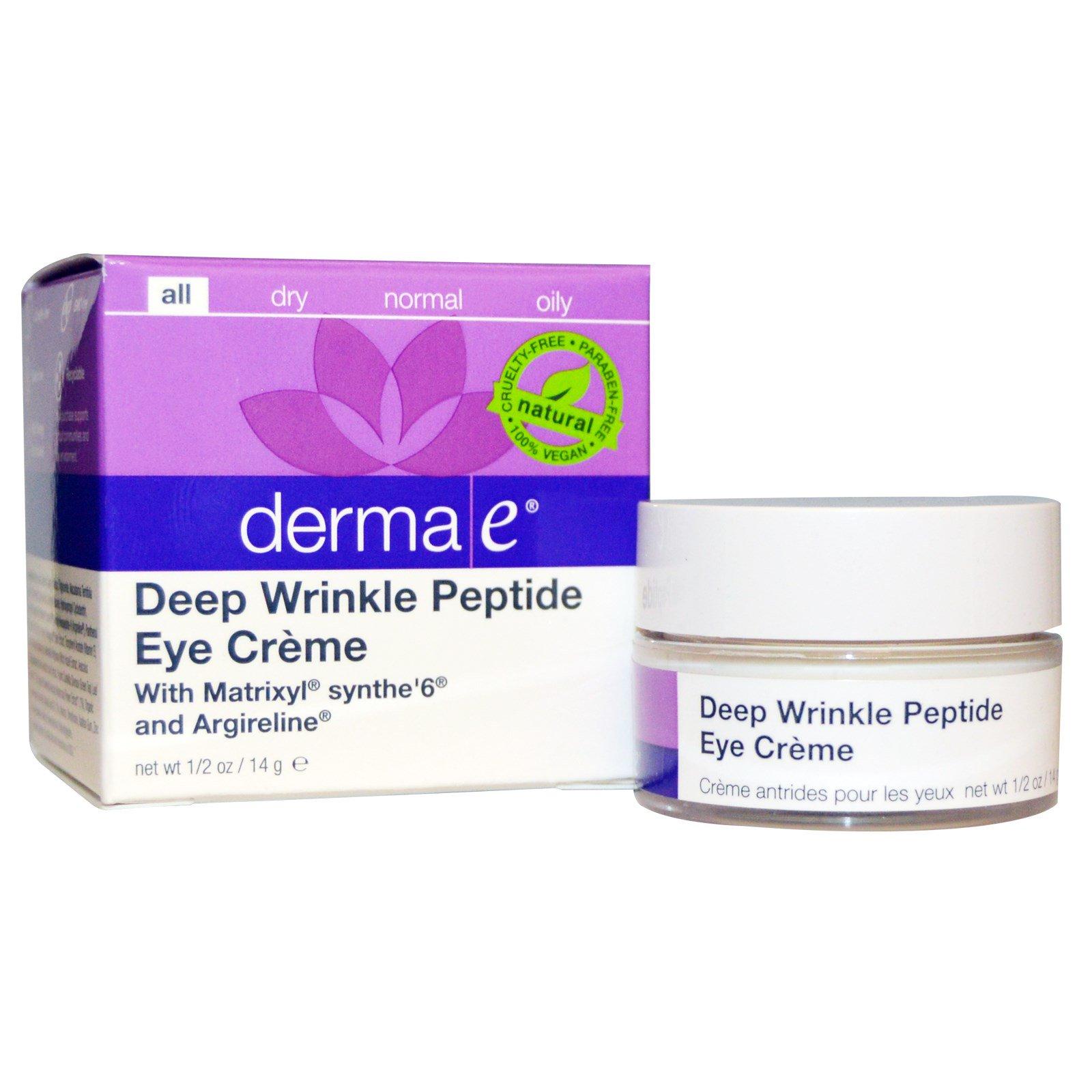 Derma E, Пептидный крем вокруг глаз против глубоких морщин, 1/2 унции (14 г)