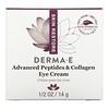 Derma E, Advanced Peptides & Collagen Eye Cream , 1/2 oz (14 g)