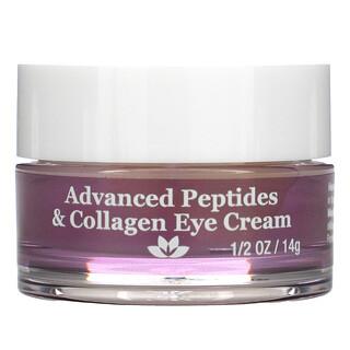 Derma E, Crema para ojos de avanzada con péptidos y colágeno, 1/2oz (14g)