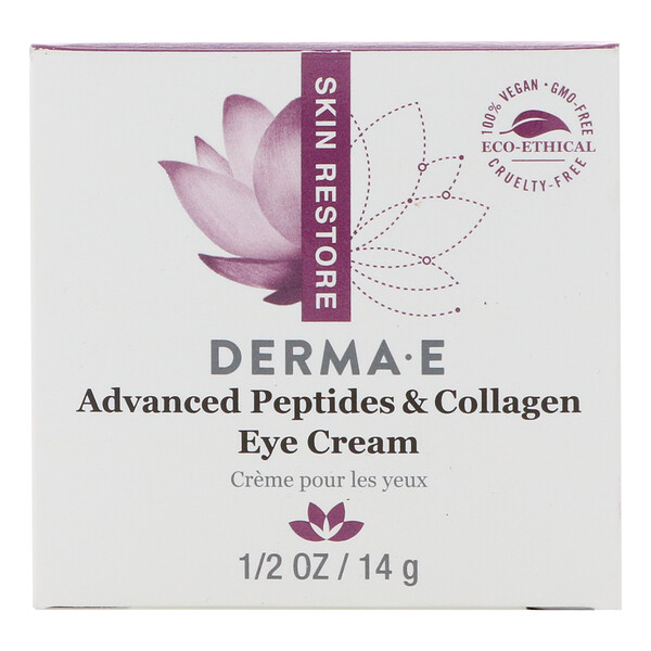 Derma E, Advanced Peptides & Collagen Eye Cream , 1/2 oz (14 g)