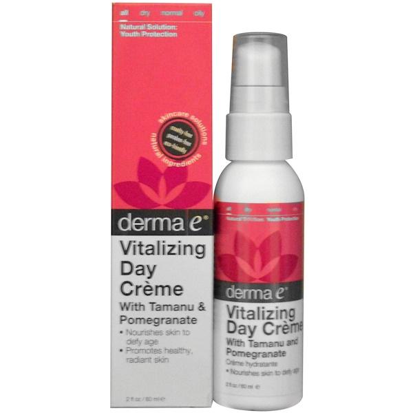 Derma E, Vitalizing Day Cream with Tamanu & Pomegranate, 2 fl oz (60 ml) (Discontinued Item)